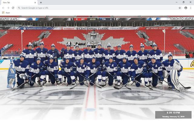 NHL Toronto Maple Leafs New Tab Theme