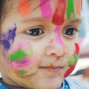 Colorful me... by Pramesh Pokharel - Babies & Children Children Candids ( colorful )