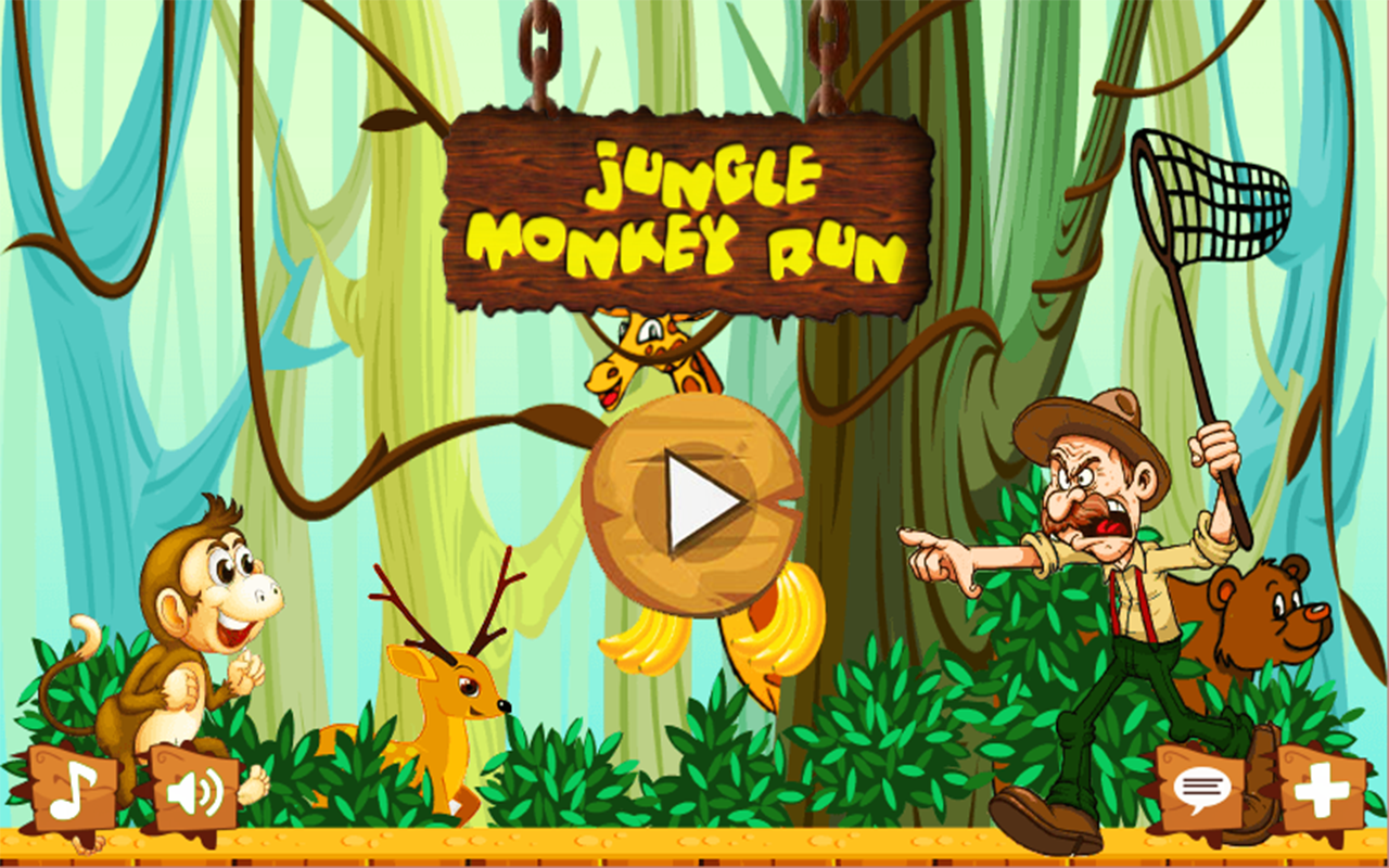 Jungle monkey run adventure game for android phone