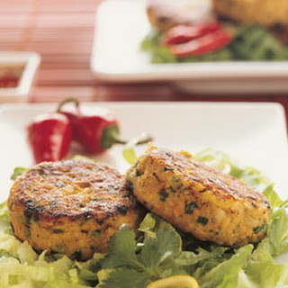 THAI SALMON CAKES WITH HOT AND SOUR SAUCE