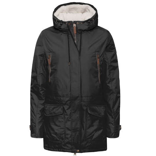 Weather Report Magda Parka Jacket Woman Black Stl: 36