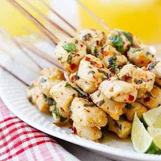 Cilantro Lime Chicken Kebab