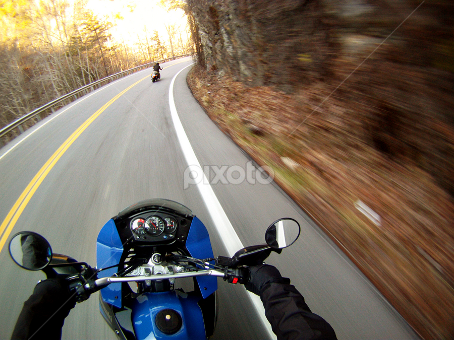 Speed by Gregory Cook - Transportation Motorcycles ( motorcycles, highway, bikes, speed, transportation )