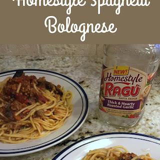 Homestyle Spaghetti Bolognese