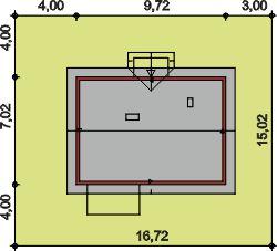 Domek Lipowy szkielet drewniany 020 JK V3 - Sytuacja