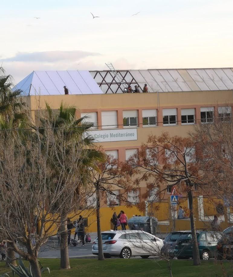 AxSí denuncia que las obras del CEIP Mediterráneo se realizan en durante el horario lectivo