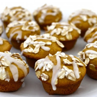 Skinny Pumpkin Coffee Cake Mini Muffins