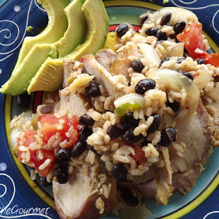 Roast Pork with Black Beans and Rice