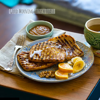 Cinnamon Orange Vanilla Grilled French Toast.