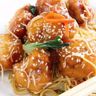 Sesame Honey Chicken.
