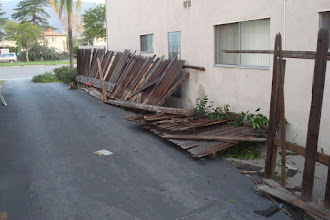 Photo: Fence in the alley by our apartment is toast.