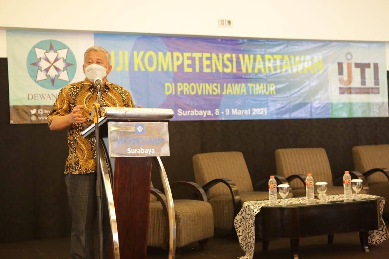 IJTI Gelar UKW, Kabid Humas Polda Jatim: Peran Media Sangat Penting dan Membantu Tugas Polri