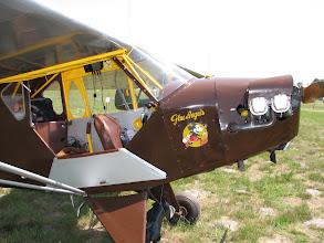 Photo: Taylorcraft J-2 Cub avec un joli nose art