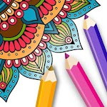 Flower Mandala Coloring Pages - Free Color Therapy Icon