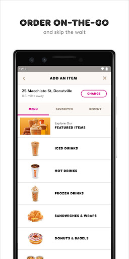 Screenshot for Dunkin' in United States Play Store