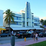 Breakwater on Ocean Drive in Miami, Florida, United States
