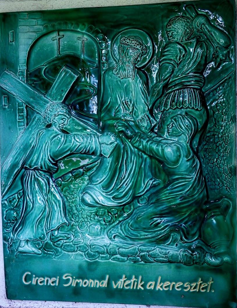 Vértestolna - stációs keresztút, kálvária a János-hegyen