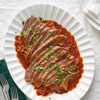 Sweet & Tangy Slow Cooker Brisket.