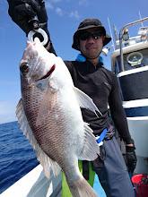 """Photo: """"ヤマサキさん""""は高級魚のオオメダイゲット! 標準和名は「メイチダイ」かな?"""