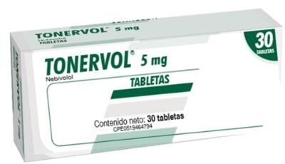 Nebivolol Tonervol 5Mg X 30 Tabletas Producto de Laboratorios Farma. Tratamiento de la hipertensión arterial esencial. Tratamiento de la insuficiencia cardiaca crónica estable.