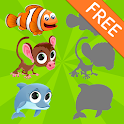 Free Animals Puzzles for Kids icon