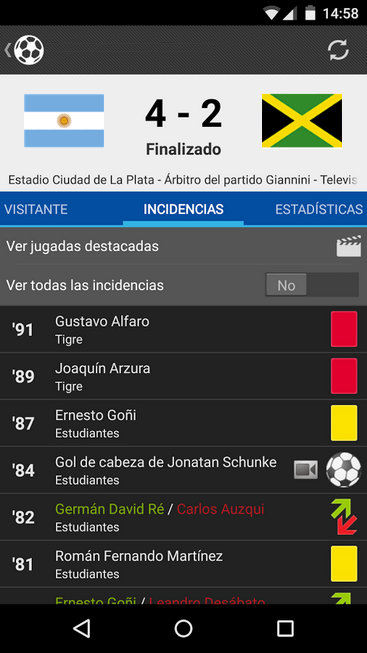 Liga Argentina Samsung Fútbol - screenshot