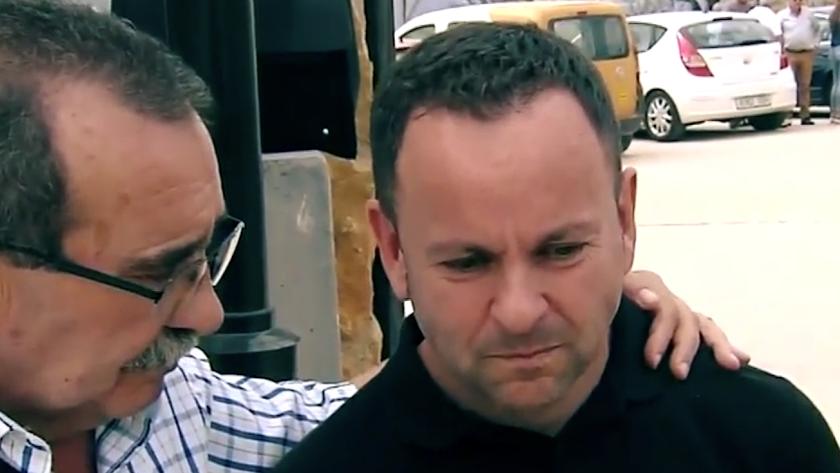Fotograma de la intervención del padre de Sergio en Telecinco.