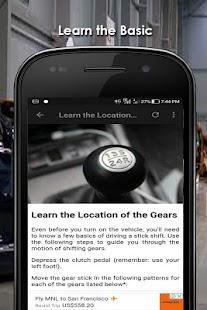 Erlernen Sie, wie man fährt: Manuelles Auto Screenshot