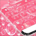 Pink Bubbles For GO Keyboard icon