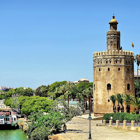 Torre del Oro, Seville by Francis Xavier Camilleri - City,  Street & Park  Historic Districts