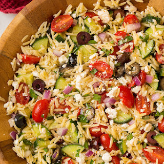 Greek Orzo Salad.