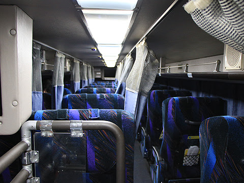 JRバス関東「プレミアムドリーム」 1179 2階席「スーパーシート」(クレイドルタイプ) 車内