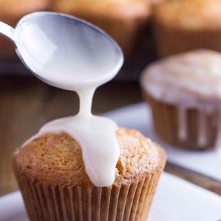 Piña Colada Muffins with Coconut Glaze.
