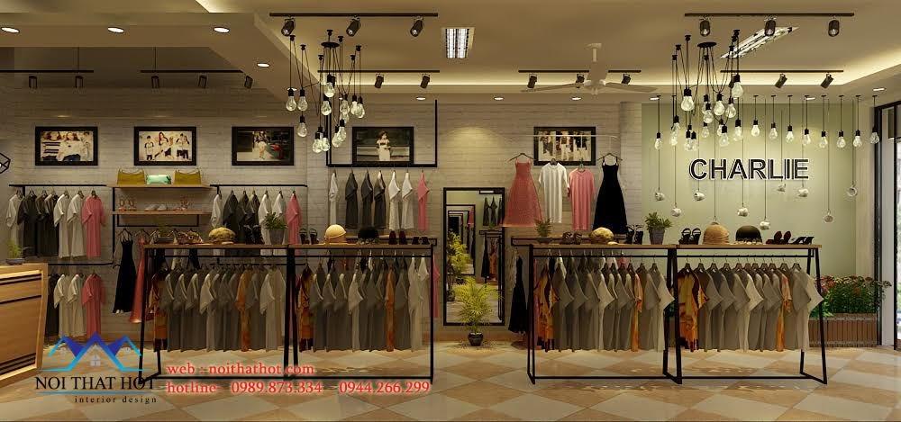 thiết kế shop thời trang nữ Gwendi hợp lý