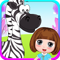 Bella playtime with baby zebra - girls pet game icon