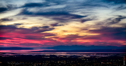 Photo: During dinner up in North Salt Lake  My friend said this was somewhat of a timid sunset as of late.