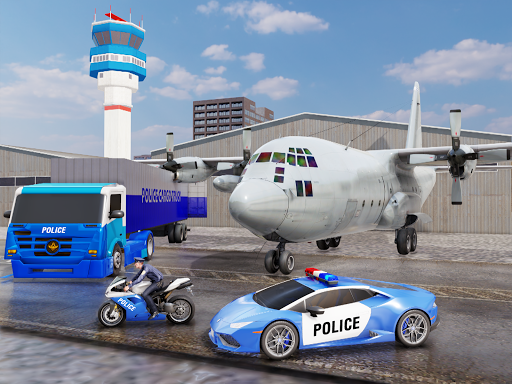 US Police Transporter Plane Simulator screenshot 11