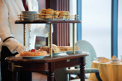 Missed lunch? Don't worry, Oceania Cruises offers a relaxing high tea each afternoon in Horizons.