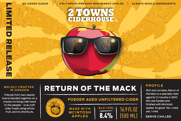 Logo of 2 Towns Ciderhouse - Return of the Mack