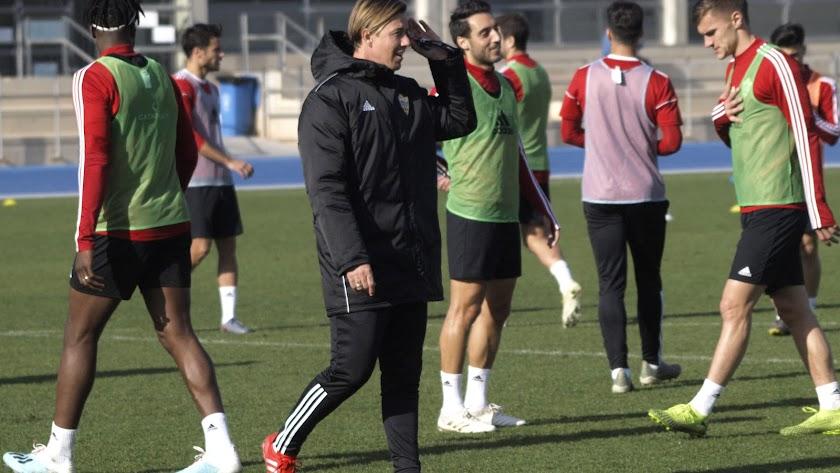José María Gutiérrez, \'Guti\', en el último entrenamiento.