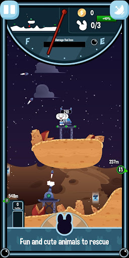 Planit Rabbit - Space Rocket Rescue Mission (BETA)  captures d'écran 1