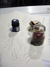 Photo: Encre, crayons et pelures