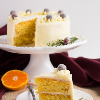 Mandarin Layer Cake with Vanilla Bean Buttercream Frosting