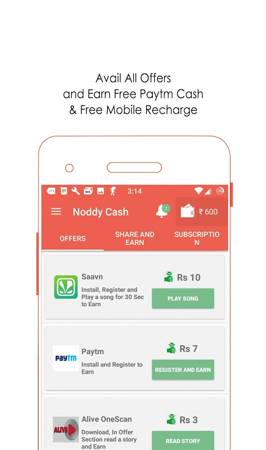 Free Paytm Cash & Recharge- screenshot