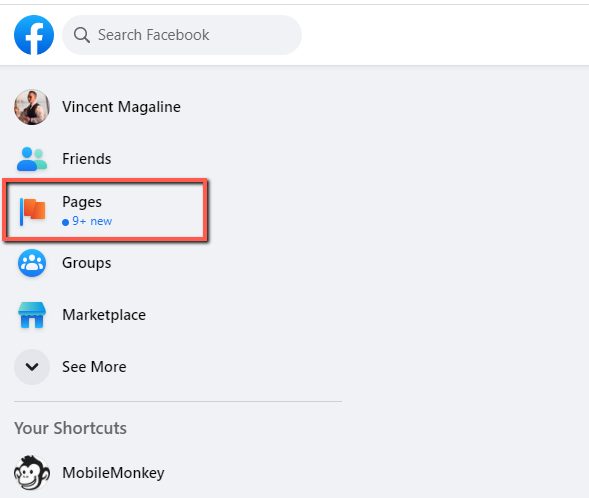 create a Messenger greeting for your Facebook Page Step 1