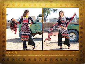 Photo: CODE: 1053 -FABRIC-TOP COTTON-BOTTOM COTTON-DUPATTA CHIFFON . Price : USD 32