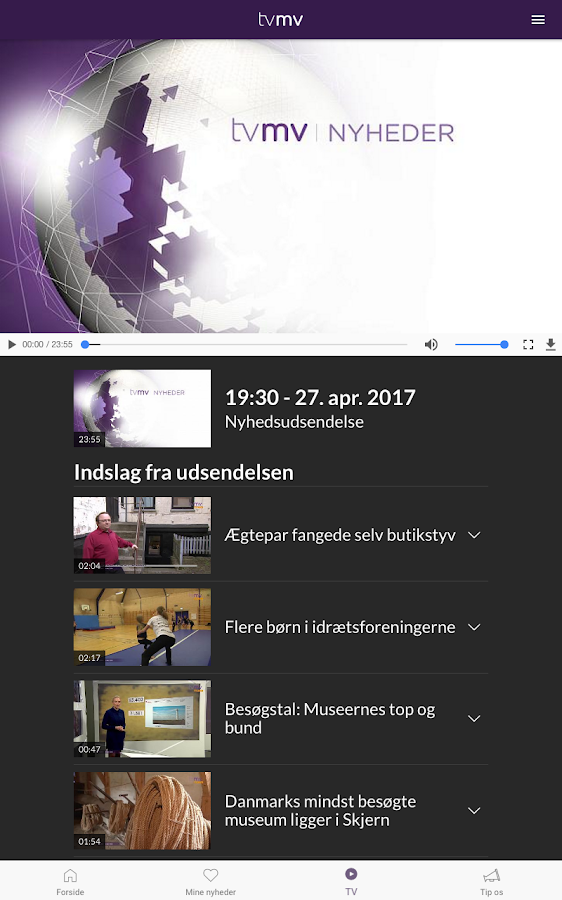 TV MIDTVEST – screenshot