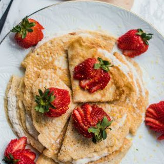 Gluten-Free Coconut Strawberry Crepes.