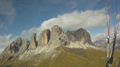 Photo: Huge Dolomites just west of Col Rodella Launch