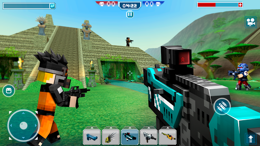 Blocky Cars - Shooting games, robo wars android2mod screenshots 4